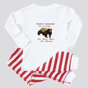 honey badger takes what she wants Baby Pajamas