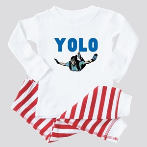 Yolo Skydiving Baby Pajamas