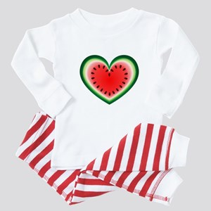 Watermelon Heart Baby Pajamas