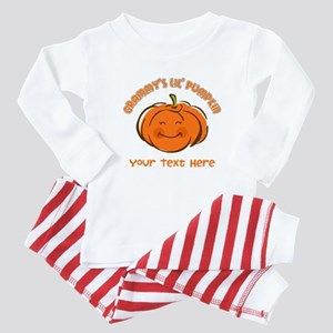 Grammy's Little Pumpkin Personalized Baby Pajamas