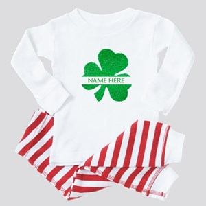 Custom Name Shamrock Baby Pajamas
