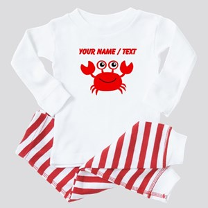 Custom Red Crab Baby Pajamas