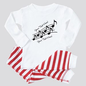 Music Notes PERSONALIZED Baby Pajamas