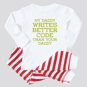 Daddy Codes Better Baby Pajamas