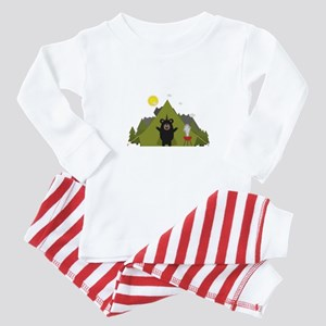 Grizzly Bear Camping Baby Pajamas