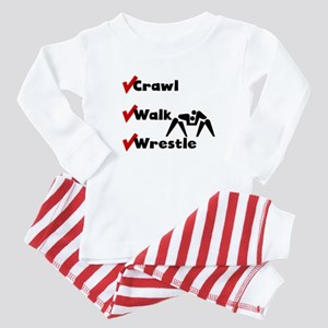 Crawl Walk Wrestle Baby Pajamas