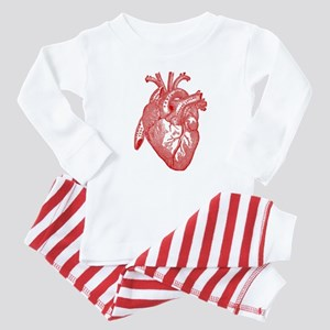 Anatomical Heart - Red Baby Pajamas