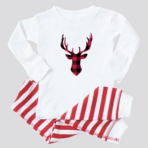 Winter Plaid Deer Baby Pajamas