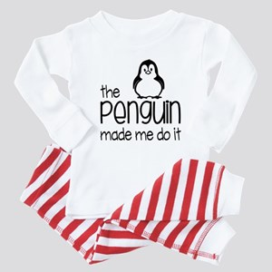 the penguin made me do it Baby Pajamas