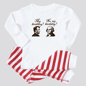 Presidents' Birthday Baby Pajamas