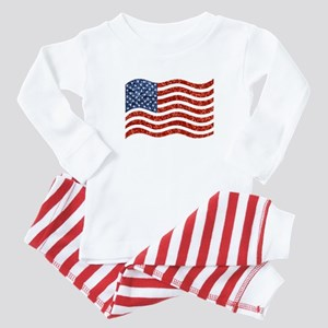 sequin american flag Pajamas