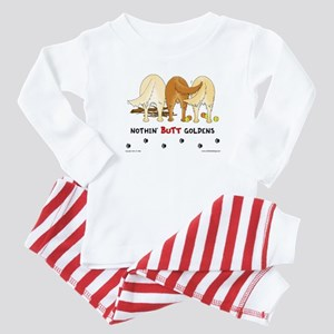 Golden Butts with Sticks/Balls Baby Pajamas