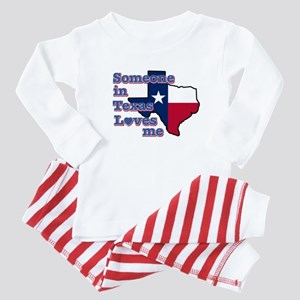 Someone in Texas loves me Baby Pajamas