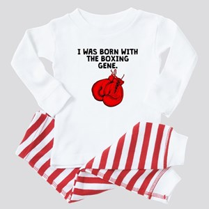 Born With The Boxing Gene Baby Pajamas