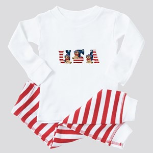 USA DOGS Baby Pajamas