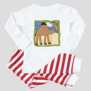 Wandering Camel with Green Border Baby Pajamas