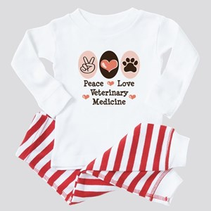 Peace Love Veterinary Medicine Baby Pajamas