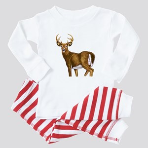 American White Tail Deer Buck Baby Pajamas