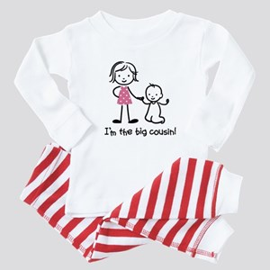 Big Cousin - Stick Characters Baby Pajamas