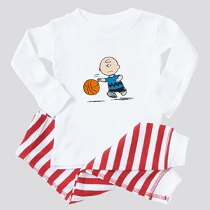 Basketballer Brown Baby Pajamas
