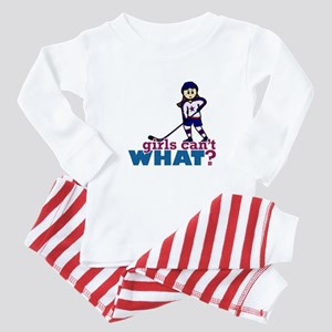 Girl Hockey Player Baby Pajamas