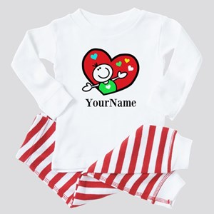 Happy Heart (p) Baby Pajamas