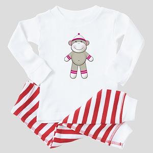 Pink Sock Monkey Baby Pajamas