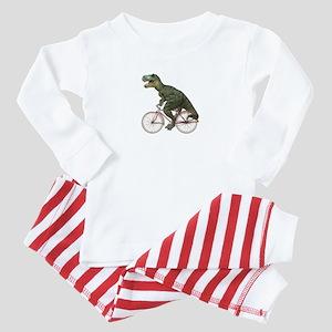 Cycling Tyrannosaurus Rex Baby Pajamas