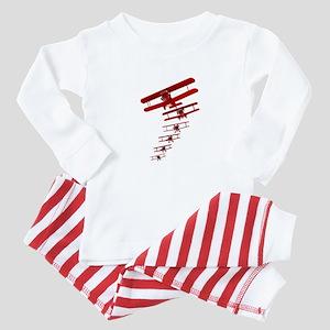 Retro Biplane Baby Pajamas