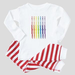 Flutes 7 Rainbow Baby Pajamas