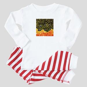Brook Trout Fly Fishing Baby Pajamas