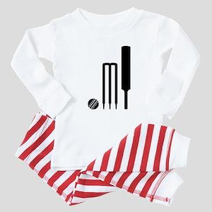 Cricket ball bat stumps Baby Pajamas