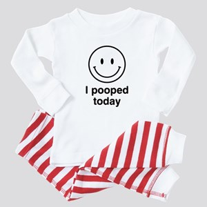 I Pooped Today Smiley Baby Pajamas