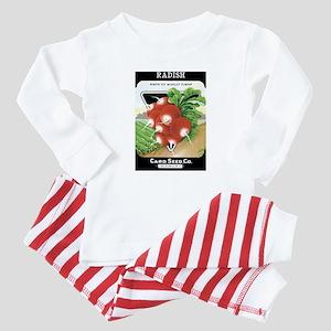 Vintage Radish Seed Packet Baby Pajamas