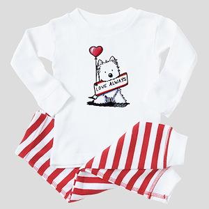 Love Always Westie Baby Pajamas