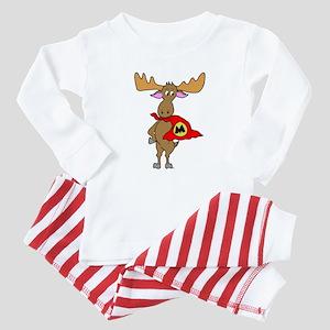 Superhero Moose Baby Pajamas