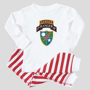 1st Ranger Bn with Ranger Tab Baby Pajamas