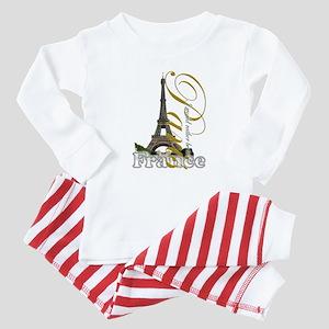 Paris, France - Baby Pajamas