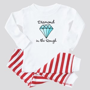 'Diamond in the Rough' Baby Pajamas