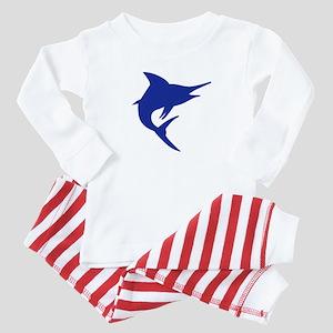 Blue Marlin Fish Baby Pajamas