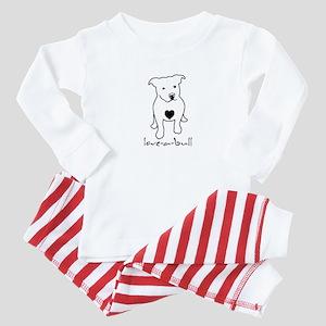 Love-a-Bull Pit Bull Baby Pajamas