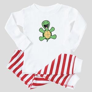 Skuzzo Happy Turtle Baby Pajamas