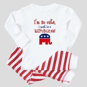 So Cute Republican Baby Pajamas