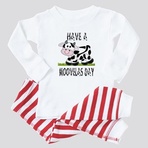 Cute Cow Moovalas day Baby Pajamas
