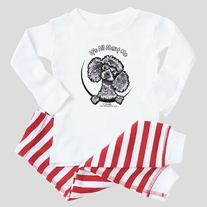 Gray Poodle IAAM Baby Pajamas