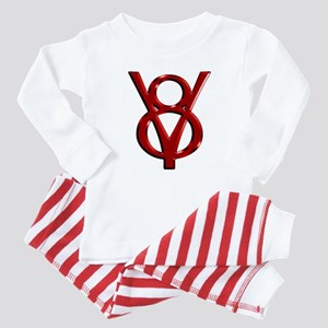 Red Chrome Baby Pajamas