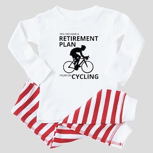 Cyclist Retirement Plan Baby Pajamas