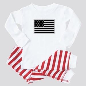 Subdued US Flag Tactical C Baby Pajamas