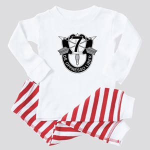7th Special Forces - DUI - No Txt Baby Pajamas
