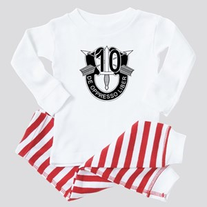 10th Special Forces - DUI - No Txt Baby Pajamas